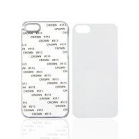 Чехол для IPhone 5 пластик прозрачный со вставкой стандарт
