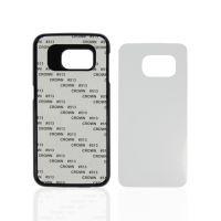 Чехол для Samsung S6 Edge, пластик черный со вставкой стандарт