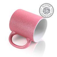 Кружка керамика розовая перламутровая 330мл