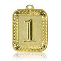 Медаль Zj-M922 золото прямоугольник 56х66мм скругленные углы