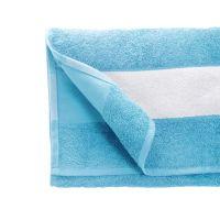 Полотенце махровое 50*100 см, 400 г/м2, хлопок, с 1 полем под сублимацию, голубой (16-4535TPX)