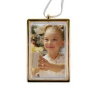 Рамка-подвеска прозрачная с золотой окантовкой под вставку 101х69х14мм (вставка 89х57мм)