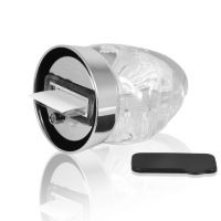 Рамка водяная в форме ёлки с хлопьями в виде снежинок h120мм премиум